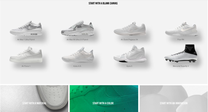 Nike by You Custom Design Page