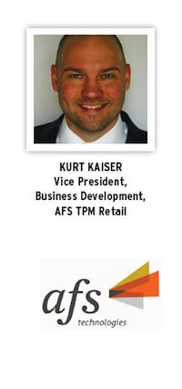 Kurt Kaiser, VP Business Dev, AFS TPM Retail head shot