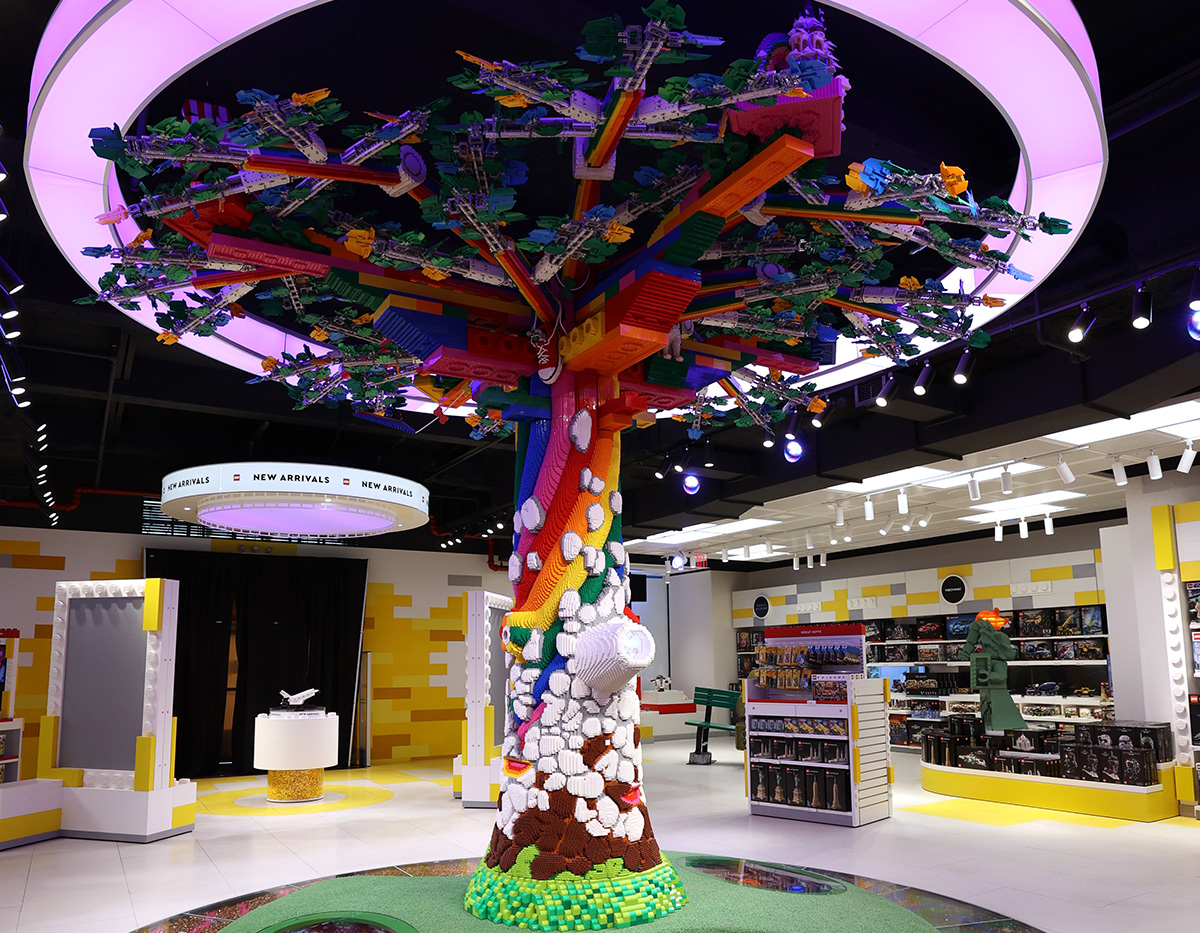 The Tree of Discovery is made of over 880,000 LEGO bricks, and consumers are encouraged to explore it.