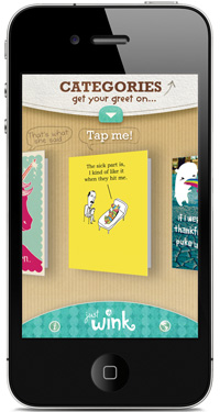 Mobile greetings news consumer goods technology justwink a new greeting card line from american greetings connects cards with the mobile world for the first time with a free greeting app for iphone and m4hsunfo