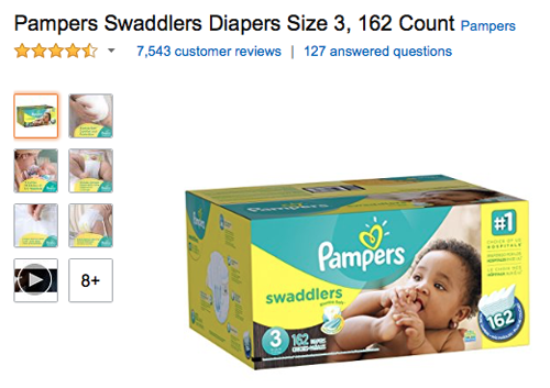 Pampers on Amazon