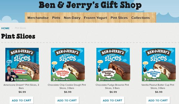 Ben & Jerry's Online Sales