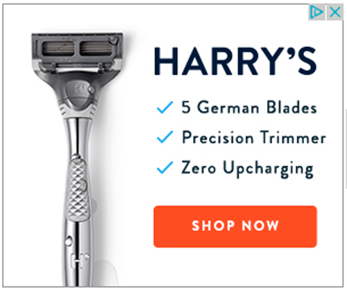 Harry's display ad
