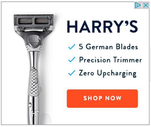 Harry's display ad