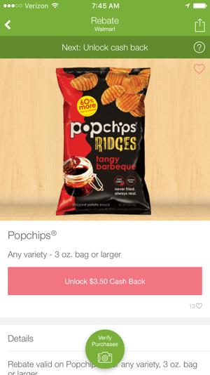Popchips on Ibotta