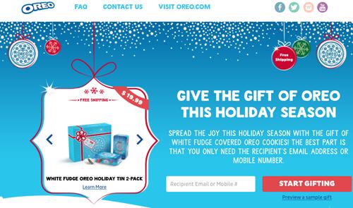 Oreo gift site