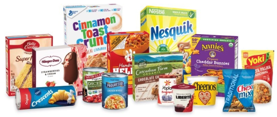 General Mills products at a glance