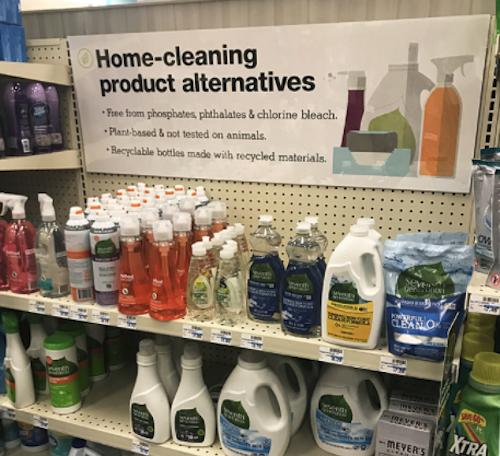 CVS purposeful choices cleaning aisle