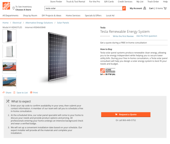 Home Depot Brings Tesla Solar SKUs to Stores | Path to