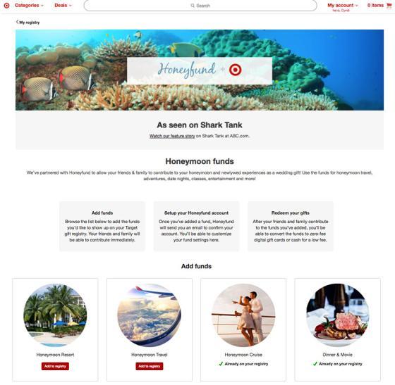 Wedding Registry Website.Target Honeyfund Create Wedding Experiences Path To Purchase Iq