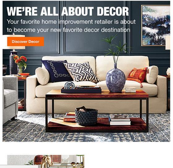 Home Depot Wants to Be a Decor Destination | Consumer Goods Technology