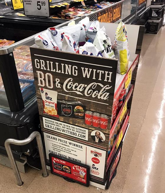 Coke, Utz Grill with Bo Jackson at Jewel-Osco | Path to Purchase IQ