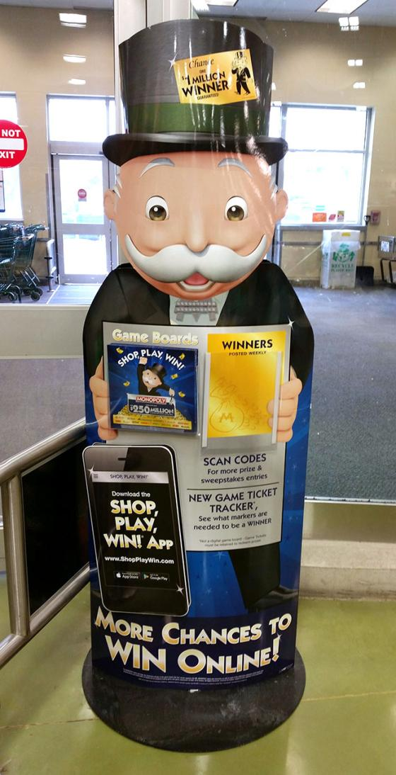 "Shaw's Monopoly ""Shop, Play, Win!"" Standee"
