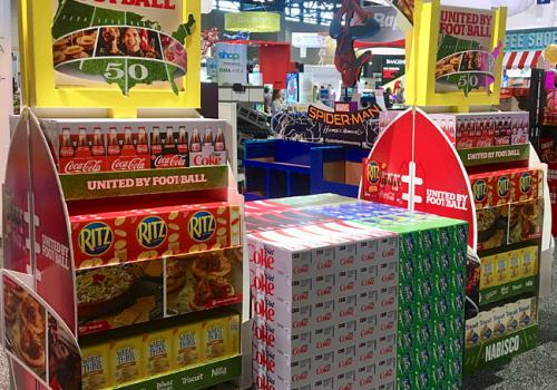 "Nabisco & Coca-Cola ""United by Football"" Joint Lobby Display"