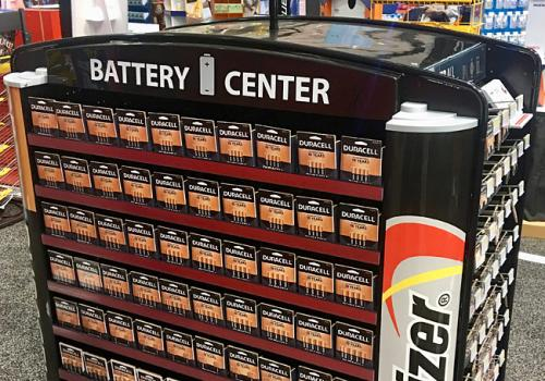 Walmart Battery Center Display
