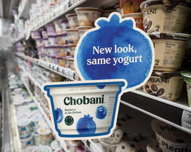 Chobani new packaging in store