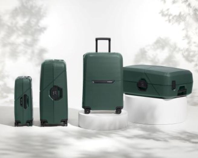 a group of luggage
