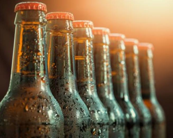 a close up of a bottle