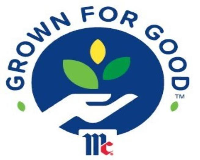 McCormick grown for good logo