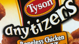 Tyson Foods any'tizers boneless chicken wyngz